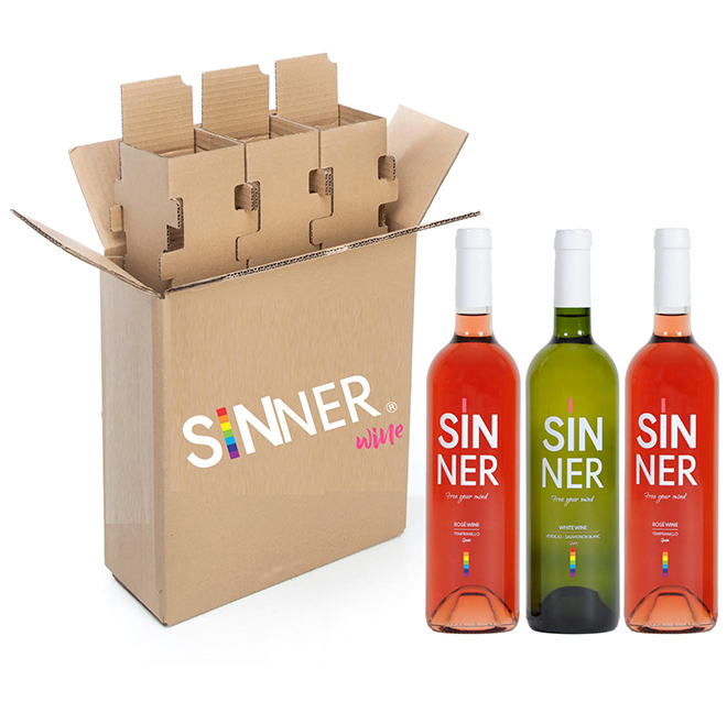 sinner wine rose lgtb wine inspired by the lgbt collective, gay wine lesbians gays pride