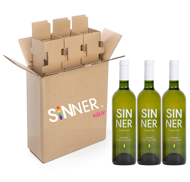 sinner wine white lgtb wine inspired by the lgbt collective, gay wine lesbians gays pride
