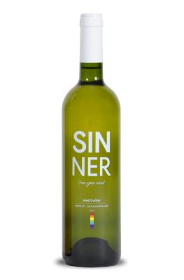 sinner wine white inspired by the lgbt collective, gay wine lesbians gays pride